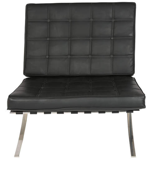 buy barcelona one seater reception chair in black colour by star