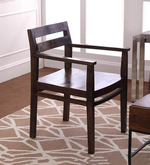 Barcelona Solid Wood Arm Chair in Provincial Teak Finish by TheArmchair