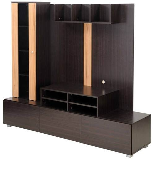 Buy Barcelona Wall-Unit in Brown Colour by Royal Oak Online - Modern ...