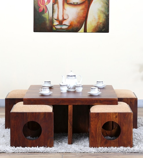 Barnes Coffee Table Set In Honey Oak Finish