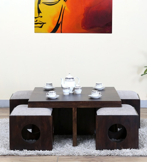 Barnes Coffee Table Set In Warm Chestnut Finish
