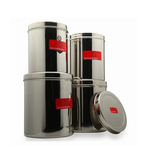 Buy Bartan Shopee Stainless Steel Kitchen Containers Capacity Round