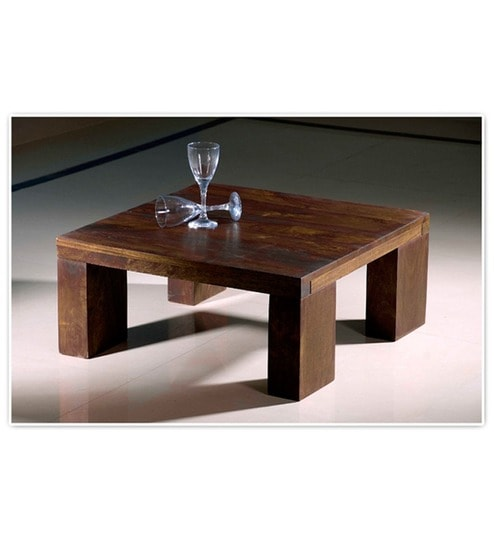 Buy Low Height Solid Coffee Table By Wood Dekor Online: Buy Basil Attractive Low Height Center Table Online