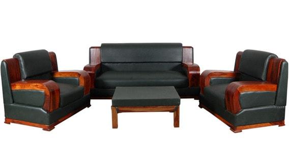Barcelona Sofa Set In Honey Oak Finish By Woodsworth