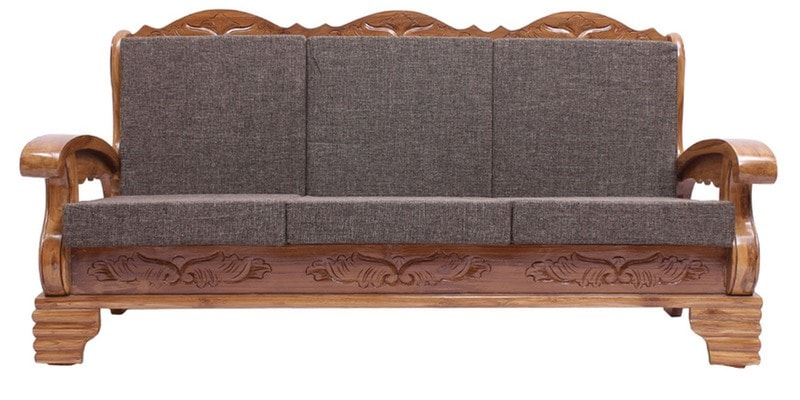 Buy Downing Teak Wood Three Seater Sofa In Natural Teak