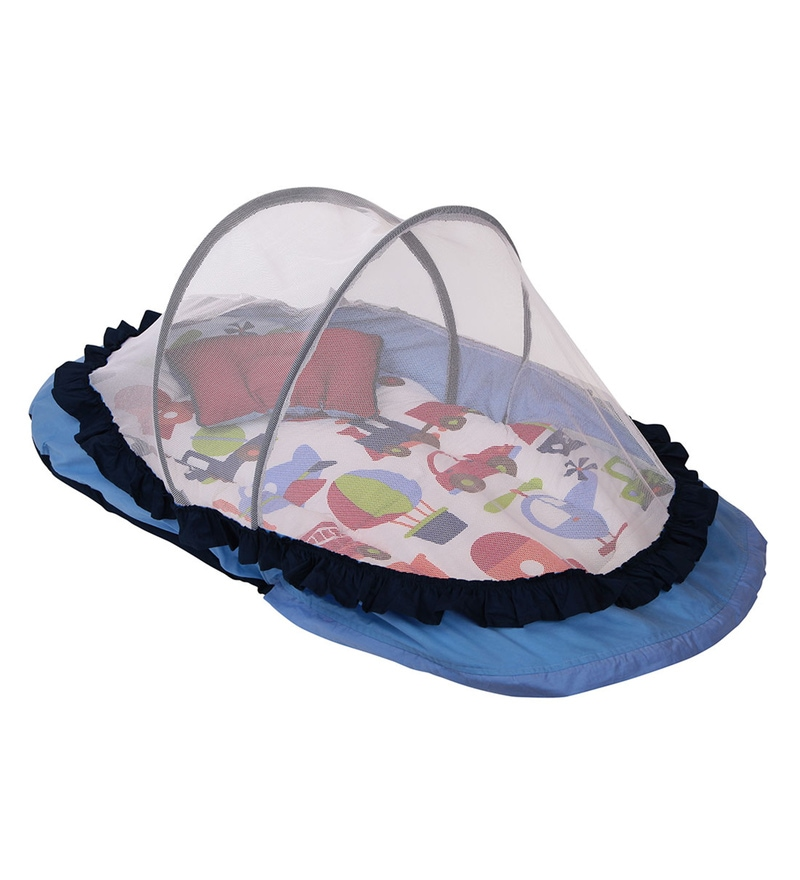 Bacati Bacat Transportation Multicolour Cotton Large Net with Mattress