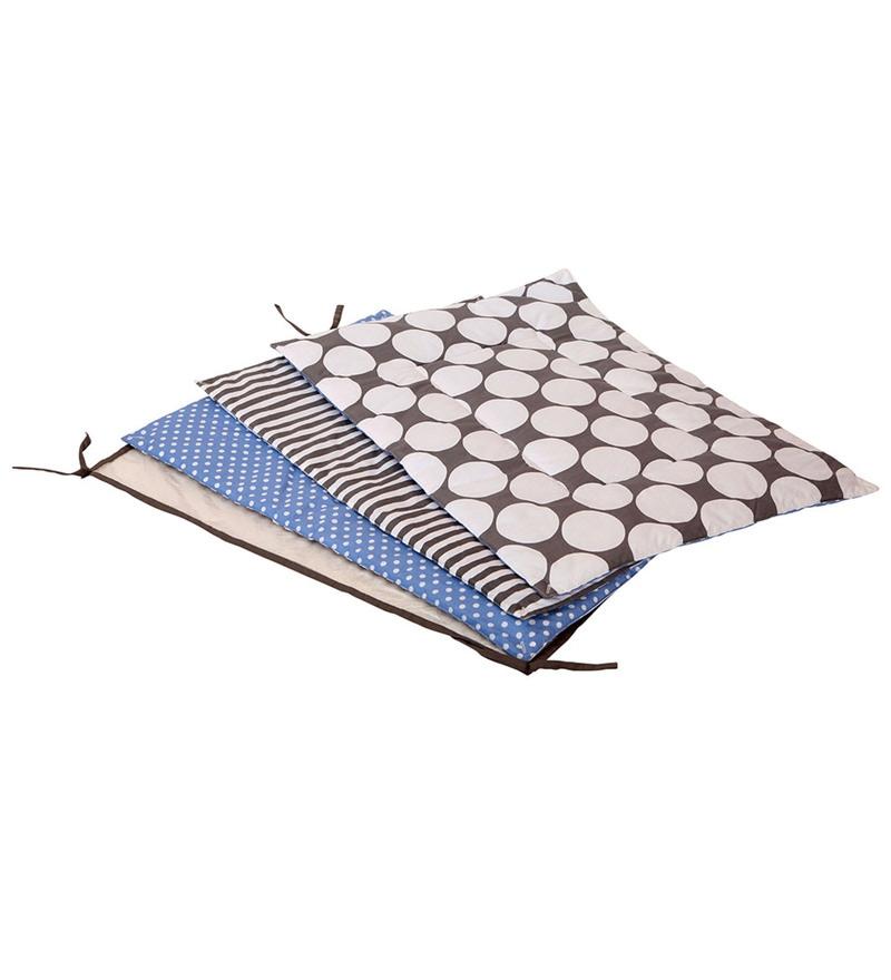 Grey Dots Blue Grey 4 pc Sheet Set by Bacati