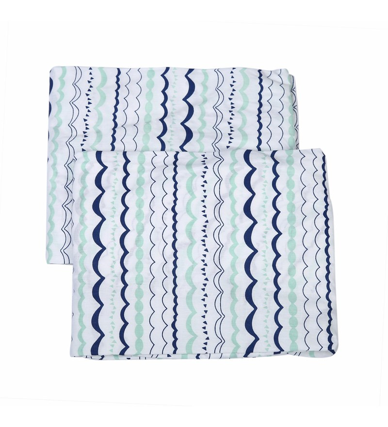 Bacati Multicolour Cotton 52 x 28 Inch Noah Tribal Garland Crib Fitted Baby Bedding Sets - Set of 2