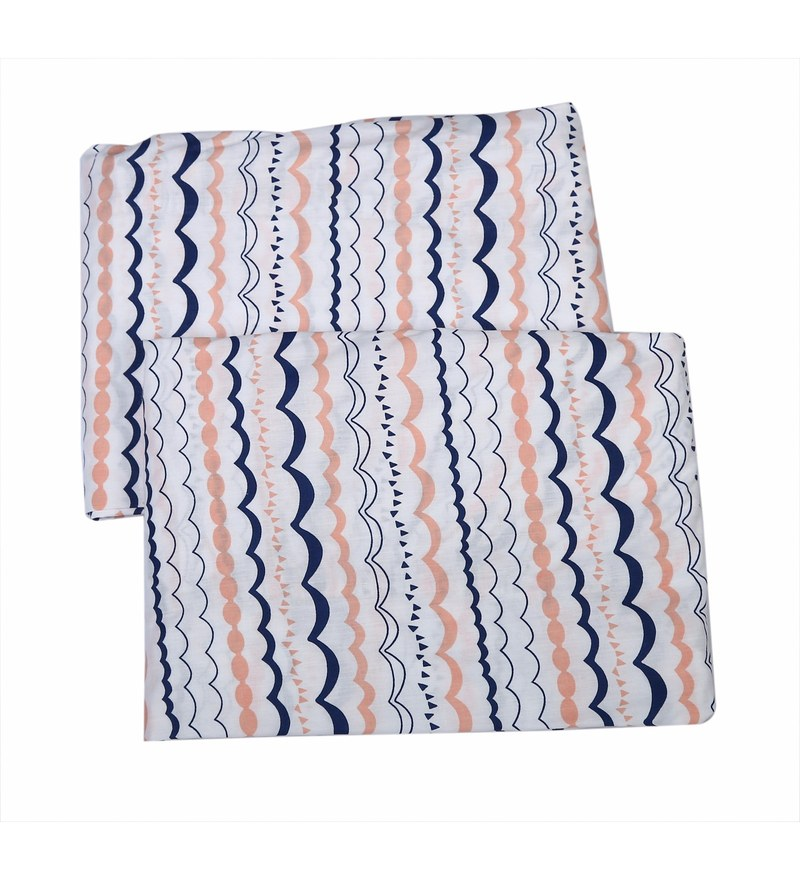 Bacati Multicolour Cotton 52 x 28 Inch Olivia Crib Fitted Baby Bedding Sets - Set of 2