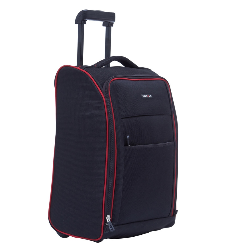 buy bags r us 36 ltr polyester black cabin trolley bag. Black Bedroom Furniture Sets. Home Design Ideas