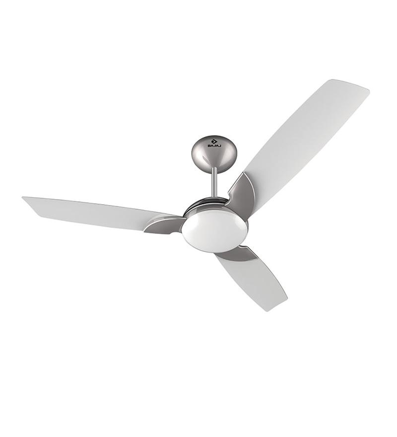 Buy Bajaj Harrier 1200 Mm Silky White Ceiling Fan Online Ceiling Fans Ceiling Fans
