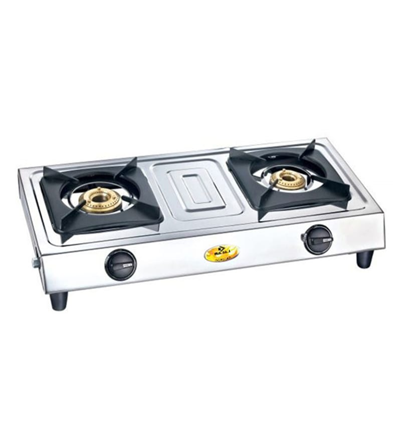 buy bajaj popular eco 2 stainless steel 2 burners gas. Black Bedroom Furniture Sets. Home Design Ideas