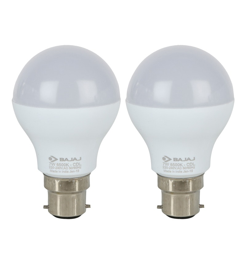 Bajaj White 7 W LED Bulb - Set of 2