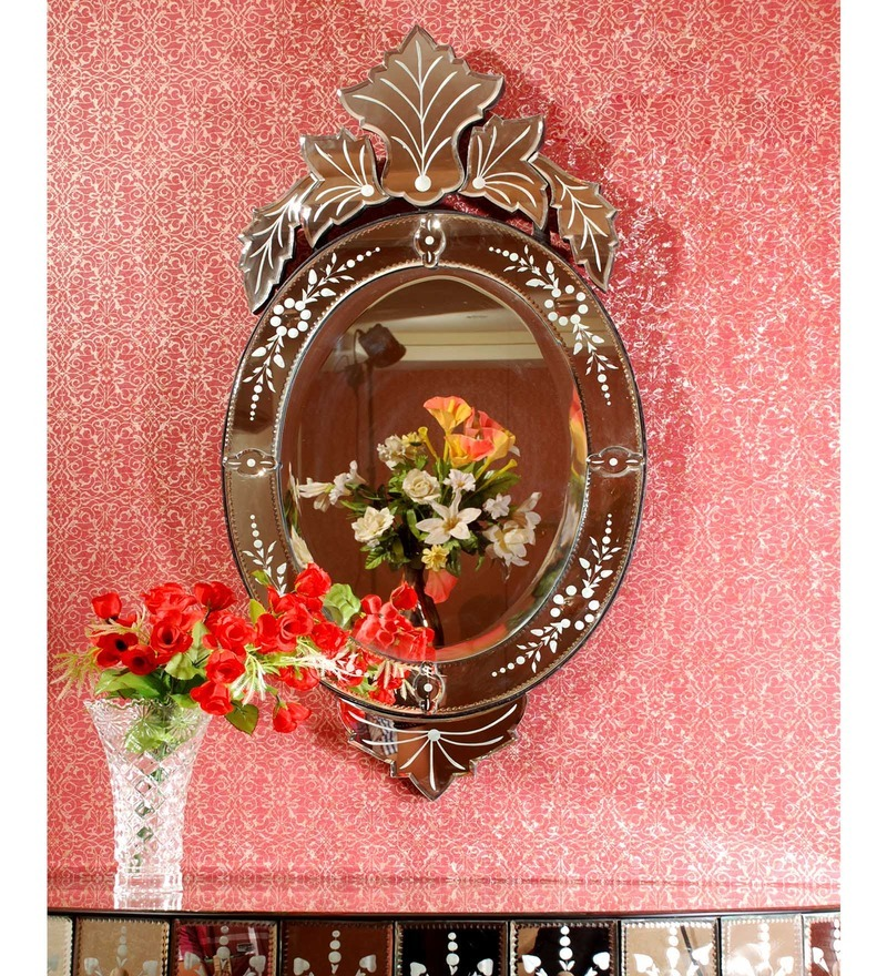 Silver MDF Mirror by Venetian Design