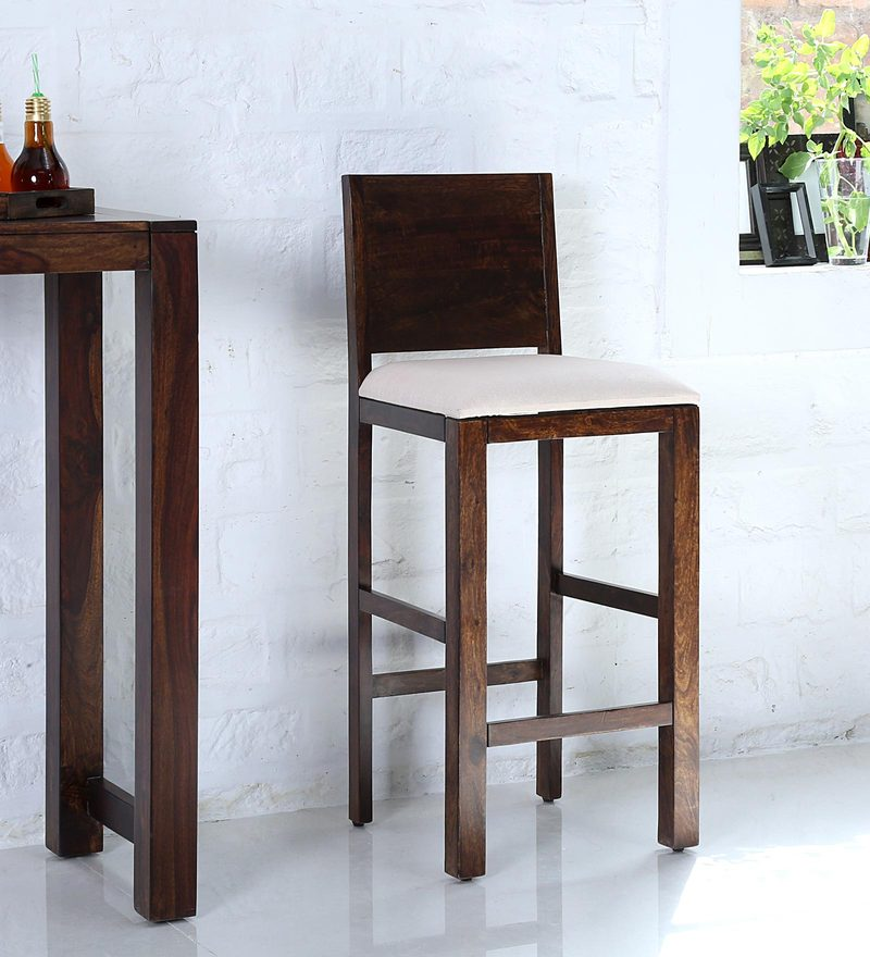 Oriel Bar Chair in Provincial Teak Finish by Woodsworth