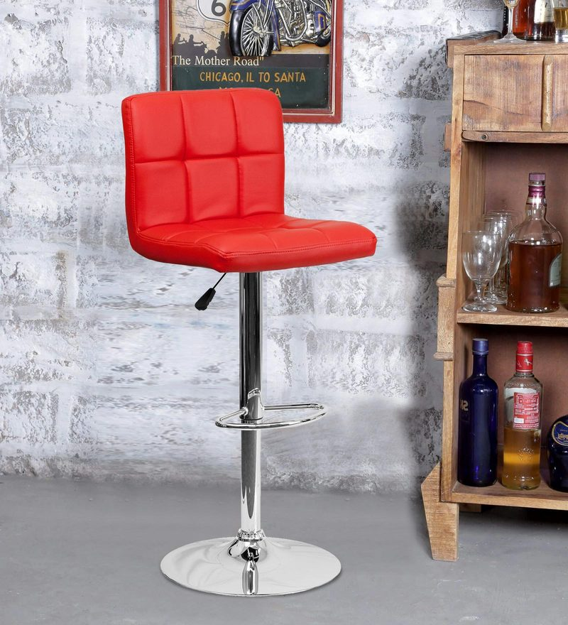 Bar Chair in Red Colour by Exclusive Furniture