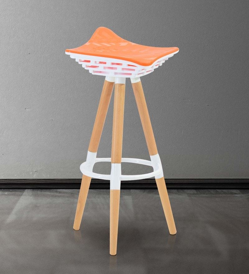 Bar Stool (Set of 2) in Orange Colour By Marco