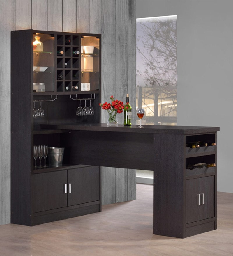 Bar Unit Cum Cabinet in Espresso Finish by Marco