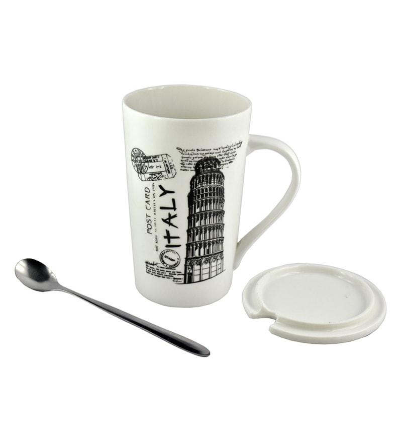 Bar World Leaning Tower of Pisa (Italy) Multicolour Ceramic & Plastic 540 ML Mug - Set of 3