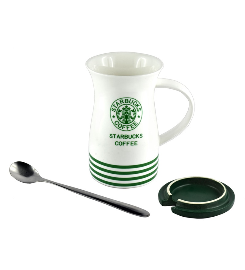 Bar World Starbucks Ceramic & Wood 400 ML Mug