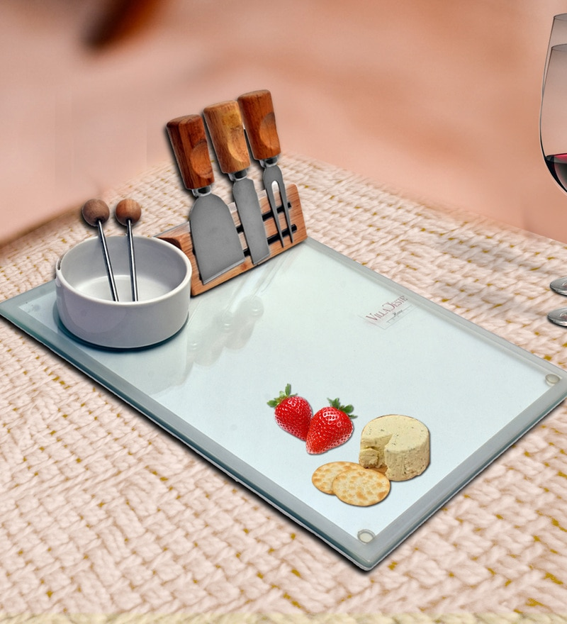 Barworld Cheese Knife Set With Cutting Board and Bowl