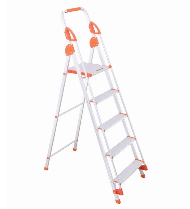 Bathla Aluminium 4 Steps 4 FT Ladder with Platform