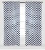 Blue Large Dots Curtain Panel Door Set of 2 pcs by Bacati
