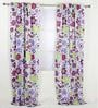 Botanical Purple Curtain Panel Door Set of 2 pcs by Bacati