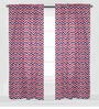Navy Red Zigzag Curtain Panel Door Set of 2 pcs by Bacati