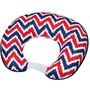 Bacati Navy Red Zigzag Nursing Pillow