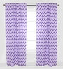 Purple Zigzag Curtain Panel Door Set of 2 pcs by Bacati