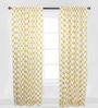 Yellow Large Dots Curtain Panel Door Set of 2 pcs by Bacati