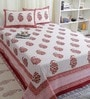 Multicolour Cotton King Size Bed sheet - Set of 3 by Bana