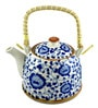 Bar World Porcelain 800 ML Teapot with Cane Handle (Model: YM8044TP-021)