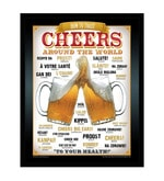 Paper & Fibre 13 x 1 x 17 Inch Cheers Around The World Beer Officially Licensed Framed Poster