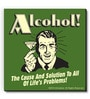bCreative Green MDF Alcohol! Solution to All of Life Problems! Fridge Magnet