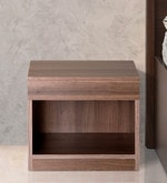 Bed Side Table in Acacia Dark Matt Finish