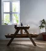 Lomira Two Seater Picnic Table in Natural Mango Wood Finish