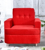 Beniza One Seater Sofa in Red Colour