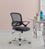 Bent Ergonomic Chair in Black Colour