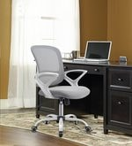 Bent W Ergonomic Chair in White Colour