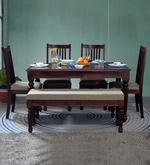 Bergamo Six Seater Dining Set in Honey Oak Finish