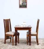 Bergamo Two Seater Dining Set in Provincial Teak Finish