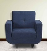 Berlin One Seater Sofa in Blue Colour
