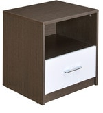 Berry Night Stand in Walnut & White Colour