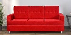 Beniza Three Seater Sofa in Red Colour