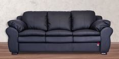 Berry Three Seater Sofa in Eerie Black Colour