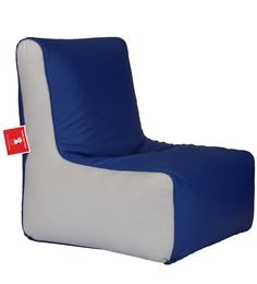 Bean Bag Chair Cover In Blue White Colour By Comfy Bags