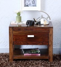 Oriel One Drawer Bed Side Table In Provincial Teak Finish