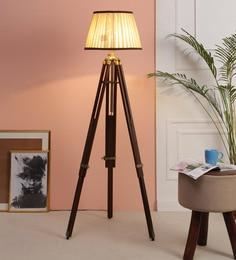 Beige Fabric Floor Tripod Lamp - 1693698